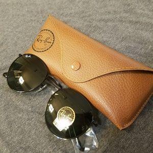 Ray Ban Round Sunglasses Black G-15 50mm